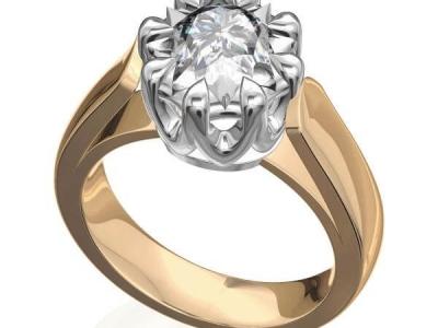 טבעת יהלום 1 קארט רחבה