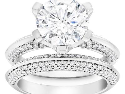 סט טבעות יהלומים לאישה