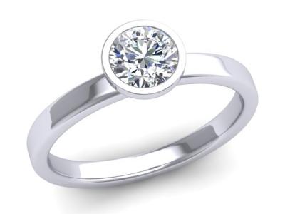 טבעת אירוסין יהלום אחד