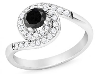 טבעת יהלןם שחור