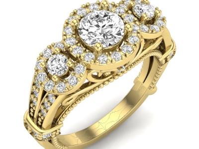 טבעת יהלום וינטג