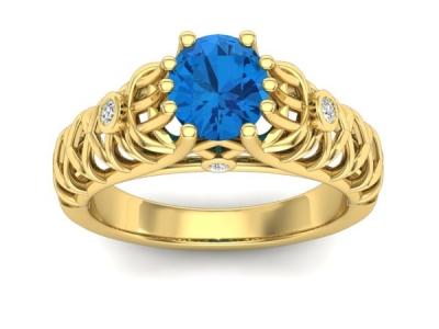 טבעת אבן חן אמרלד בקרת ספיר רובי בלו ופז