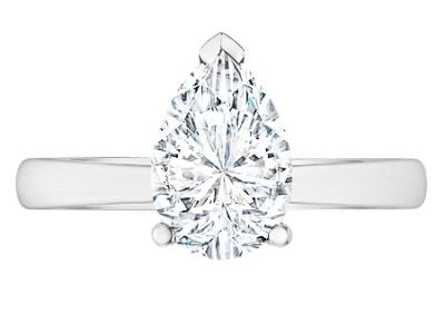 טבעת יהלום טיפה