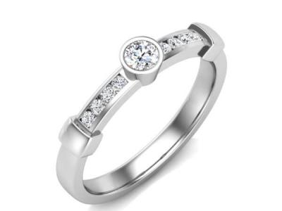 טבעת יהלום עדינה ומיוחדת