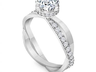 טבעת אירוסין יהלום סוליטר