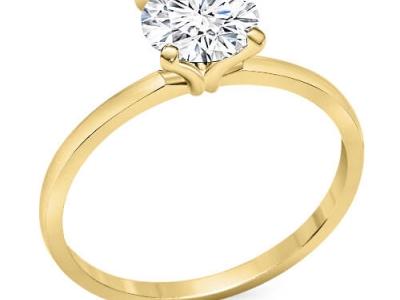 טבעת זהב דקה