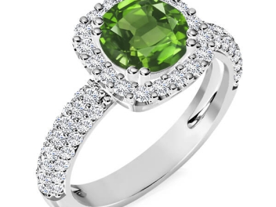 טבעת אירוסין הולו אבן חן