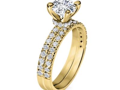 טבעת אירוסין טבעת נישואין טבעות תואמות