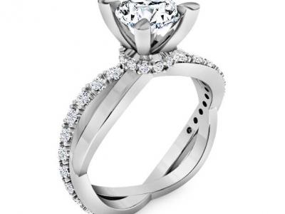 טבעת אירוסין קלאסית אלגנטית