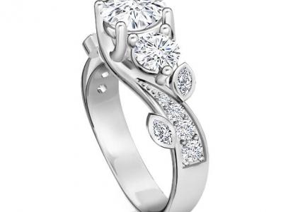 טבעת אירוסין טריפל