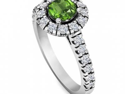 טבעת אירוסין מיוחדת עם אבני חן