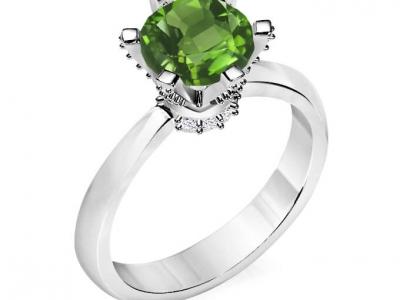 טבעת אבני חן סוליטר