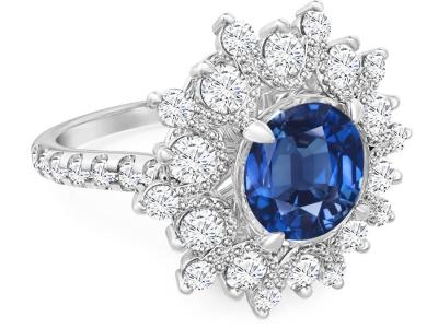 טבעת אבן חן יקרה ספיר