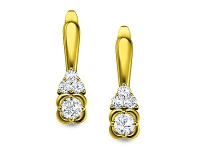 תכשיטי יהלומים עגילים זהב צהוב