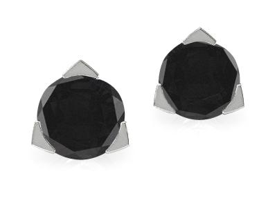עגילים צמודים יהלומים שחורים