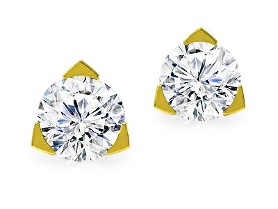 עגילים יהלומים קטנים