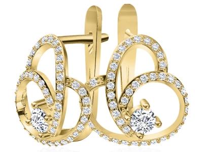 עגילי יהלומים מהבורסה ליהלומים
