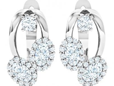 עגילי יהלומים בעיצוב וינטג'