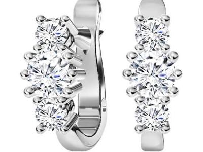 עגילי יהלומים תלויים