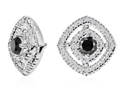 עגיל יהלומים צמודים