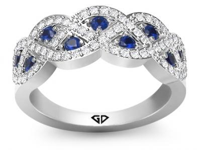 טבעת אירוסין ספיר