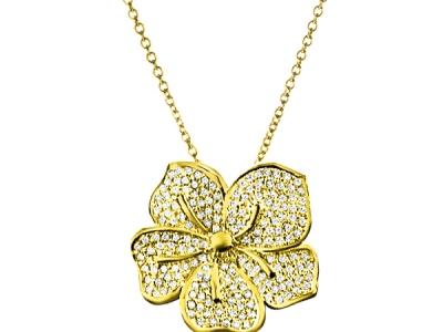 תליון יהלום שרשרת זהב
