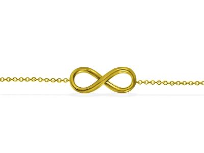 צמיד לרגל זהב בעיצוב Infinity