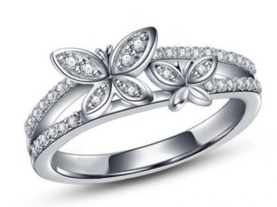טבעות יהלומים מעוצבות-טבעת פרפרים
