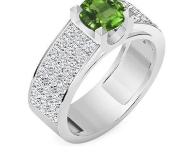 טבעת יהלומים ואבני חן לגבר