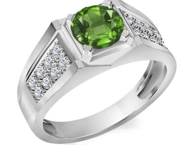 טבעת אבני חן לגבר