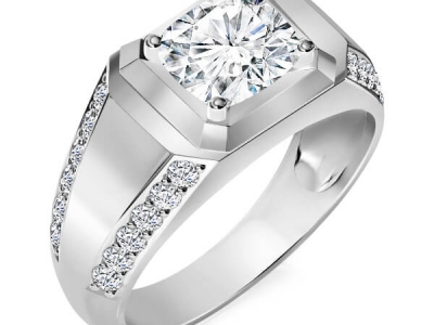 טבעת יהלומים מרשימה לגבר