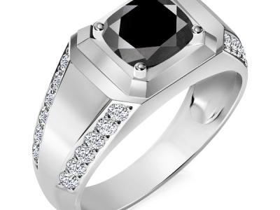 טבעת לגבר יהלום שחור הבורסה ליהלומים