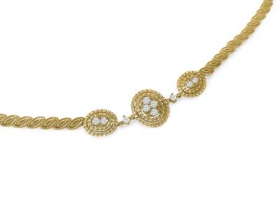 צמיד זהב ויהלומים