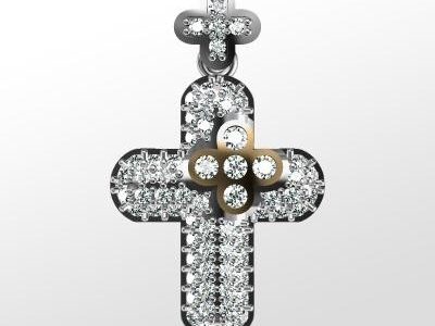 שרשרת צלב זהב ויהלומים Cross Necklaces