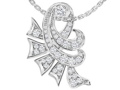 תליון יהלומים בעיצוב וינטג'