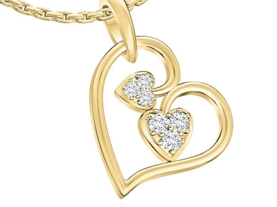 תכשיטים לאישה תליון זהב בעיצוב לב