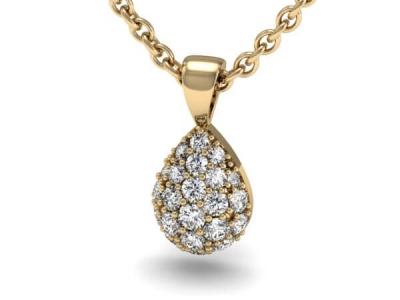 תליון יהלומים בעיצוב טיפה