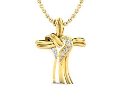 תליון צלב מעוצב Gold Cross Pendant