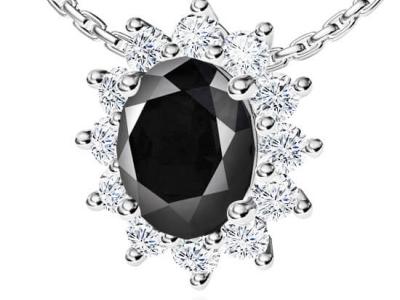 תליון יהלום שחור מעוצב