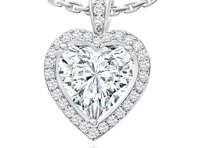 תליון יהלום בצורת לב