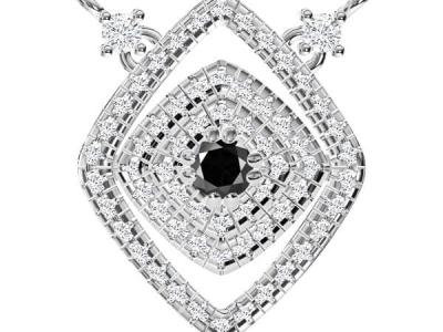 תליון יהלומים מעוצב