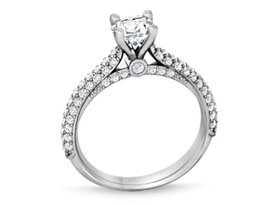 טבעת זהב זהוב לאירוסין