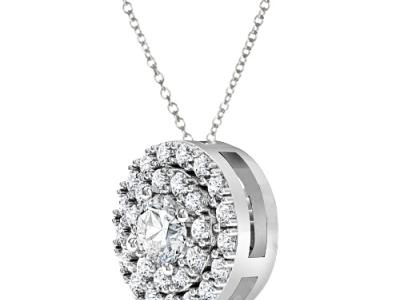 תליון לשרשרת עם יהלומים