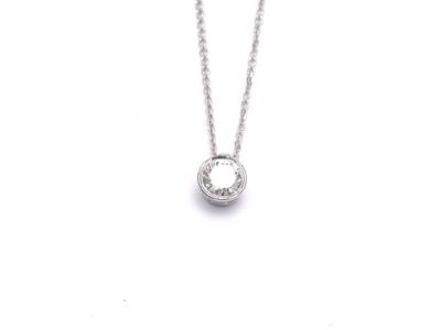 תליון סוליטייר קלאסי עם אבן מושלמת, ניתן לבחור בכל צורה של יהלום שתרצו