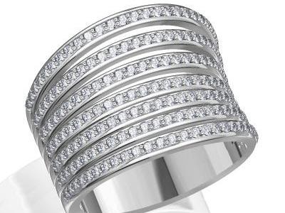 טבעת שורות של יהלומים
