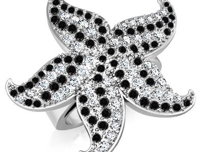 טבעת יהלומים שחורים
