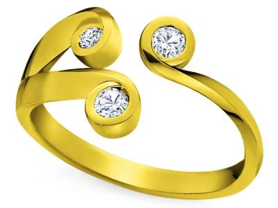 טבעת זהב צהוב