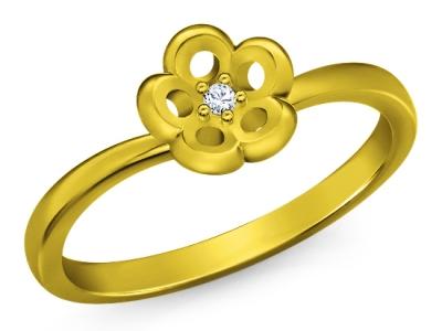טבעת זהב עדינה