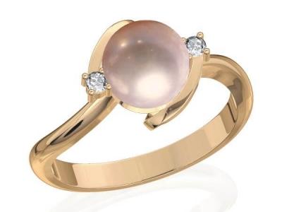טבעת פנינה בורסת היהלומים
