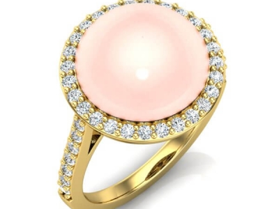 טבעת עם פנינה